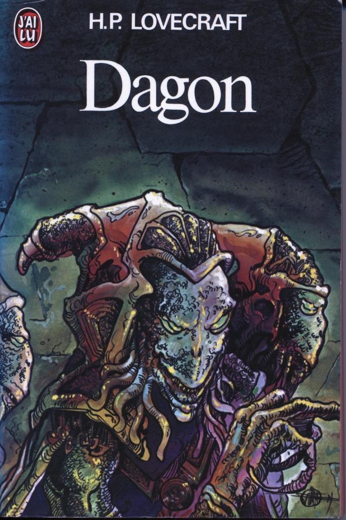 Dagon, illustration de Philippe Druillet, édition J'ai Lu