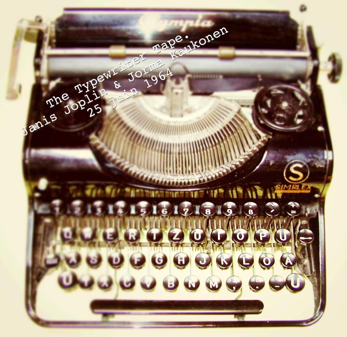 The Typewriter Tape