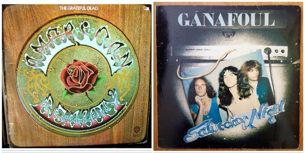 Ganafoul et Grateful Dead, pochettes albums