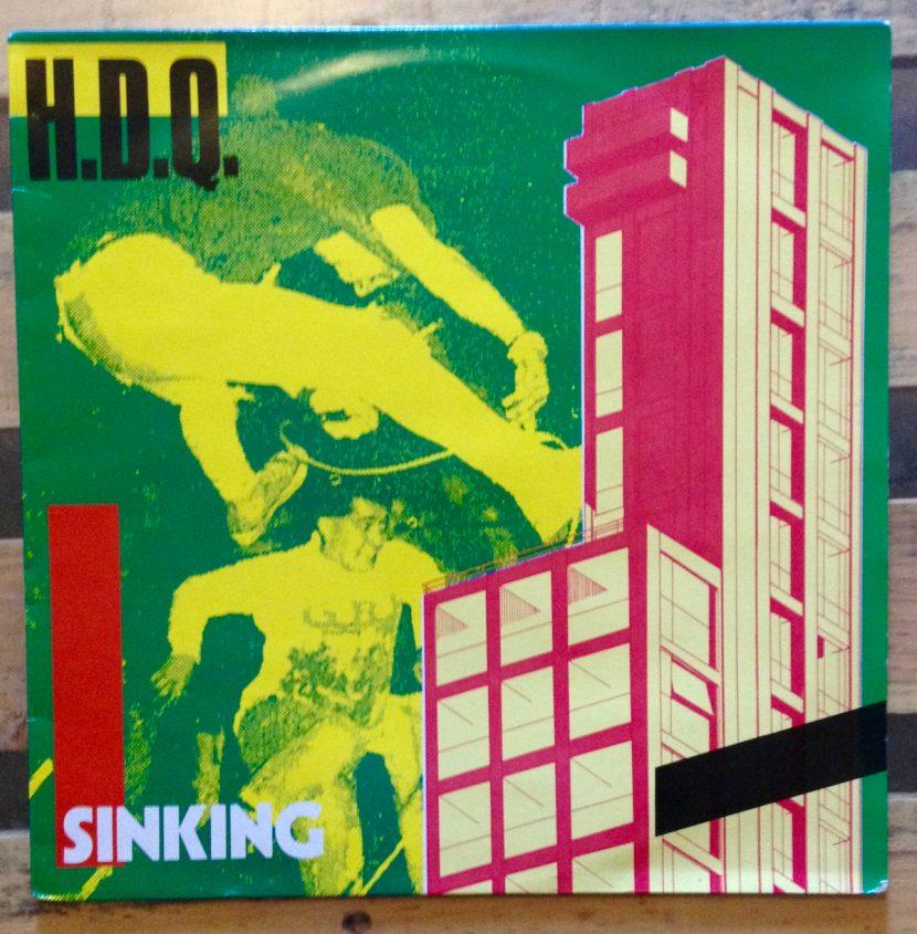 Pochette album vinyle du groupe punk HDQ - Sinking