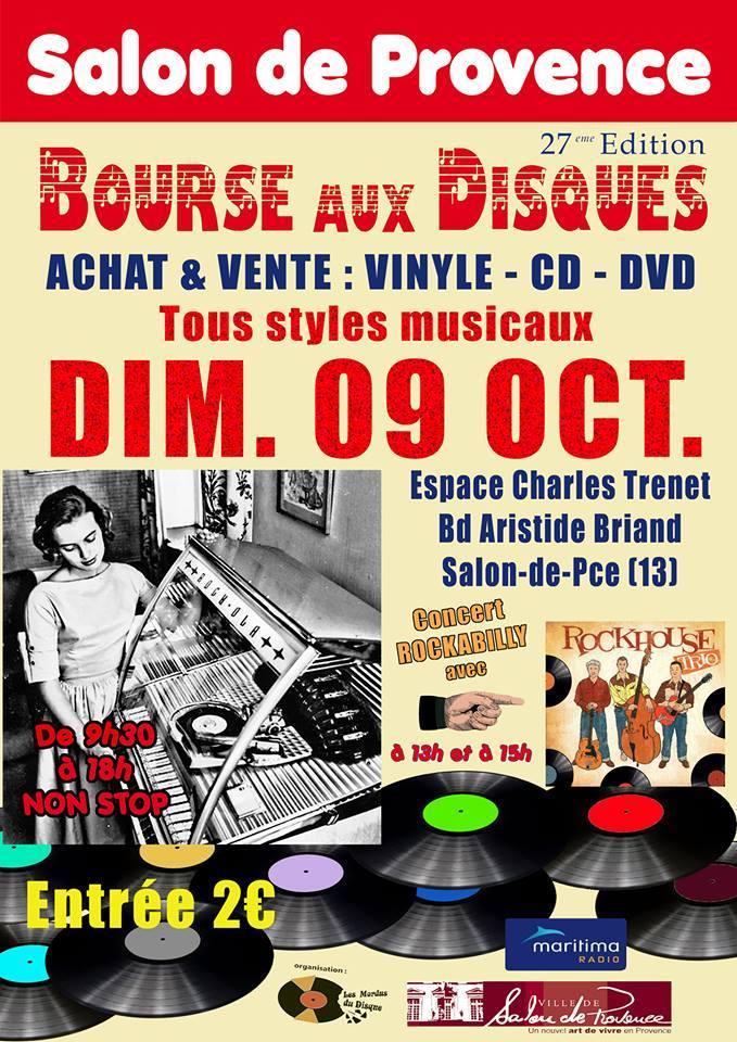 Affiche de la bourse aux disques de Salon de Provence