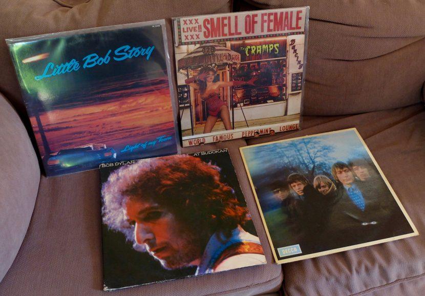 Dylan, Stones, Cramps et Little Bob. 4 disques vinyles