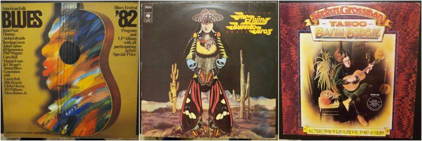Pochettes des 3 vinyles ! Bleus, Flying Burrito Bros et Stefan Grossman