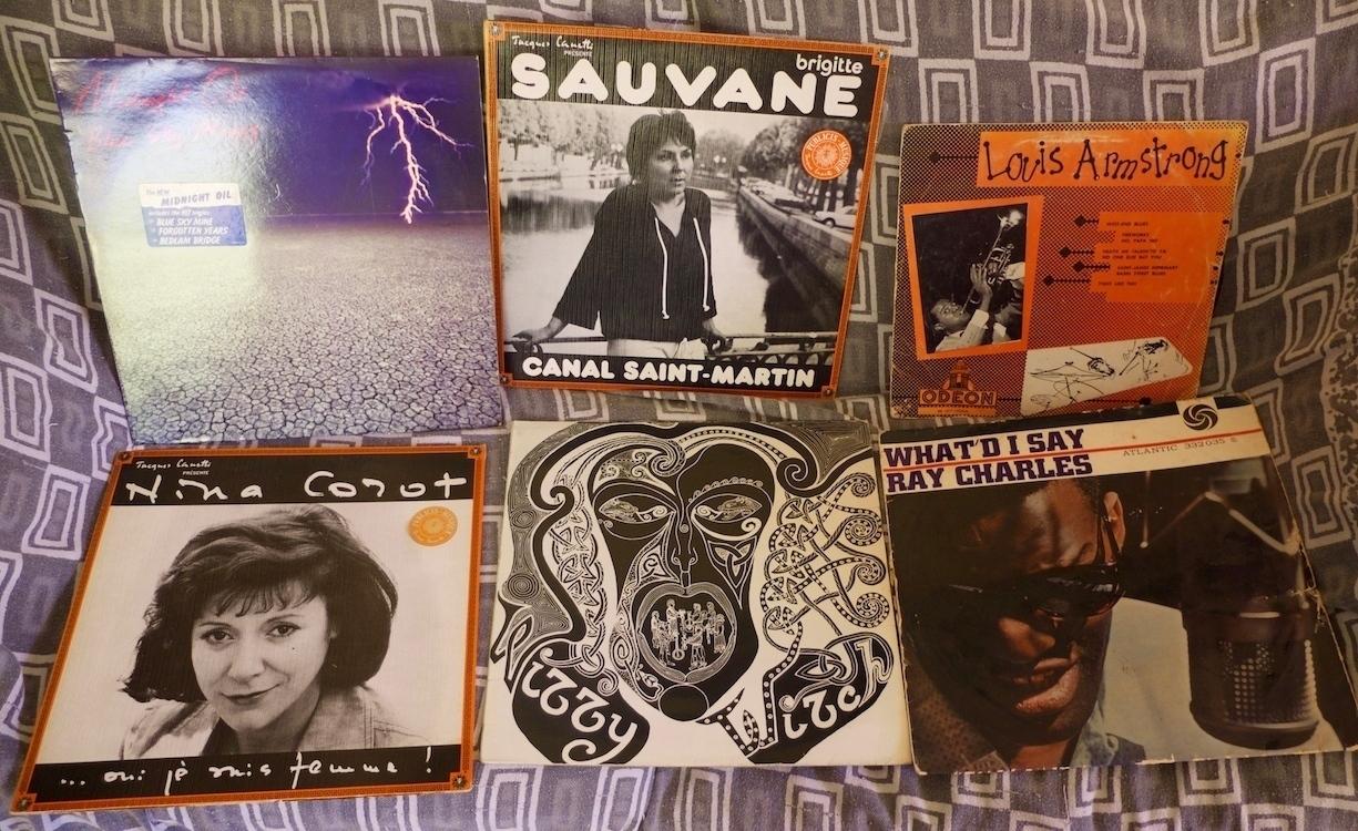 Des disques, chanson française, jazz, soul rock et folk irlandais