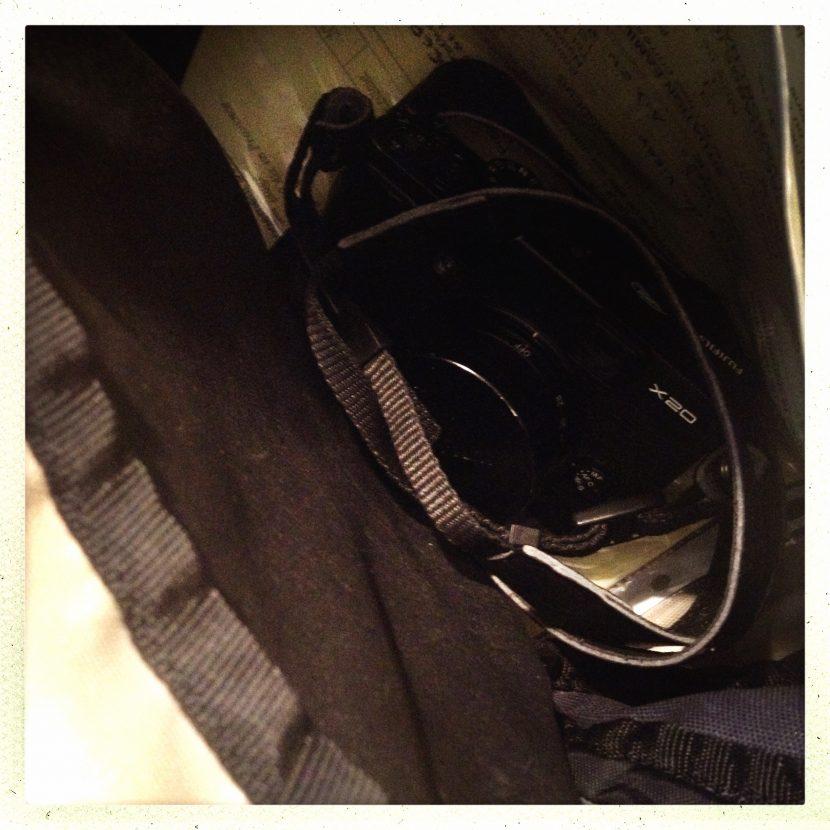 Mon Fuji X20 au fond de mon sac