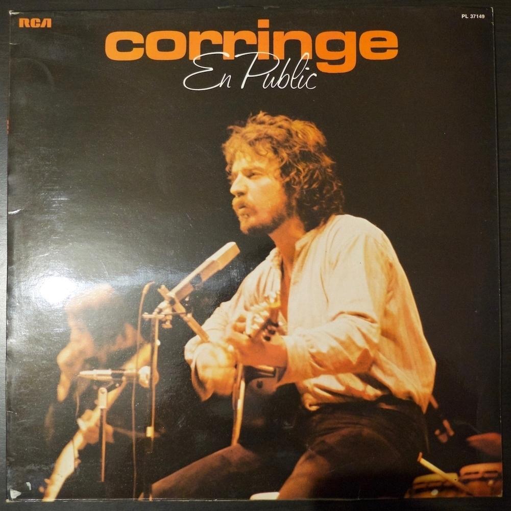 Pochette de l'album en public de Michel Corringe !