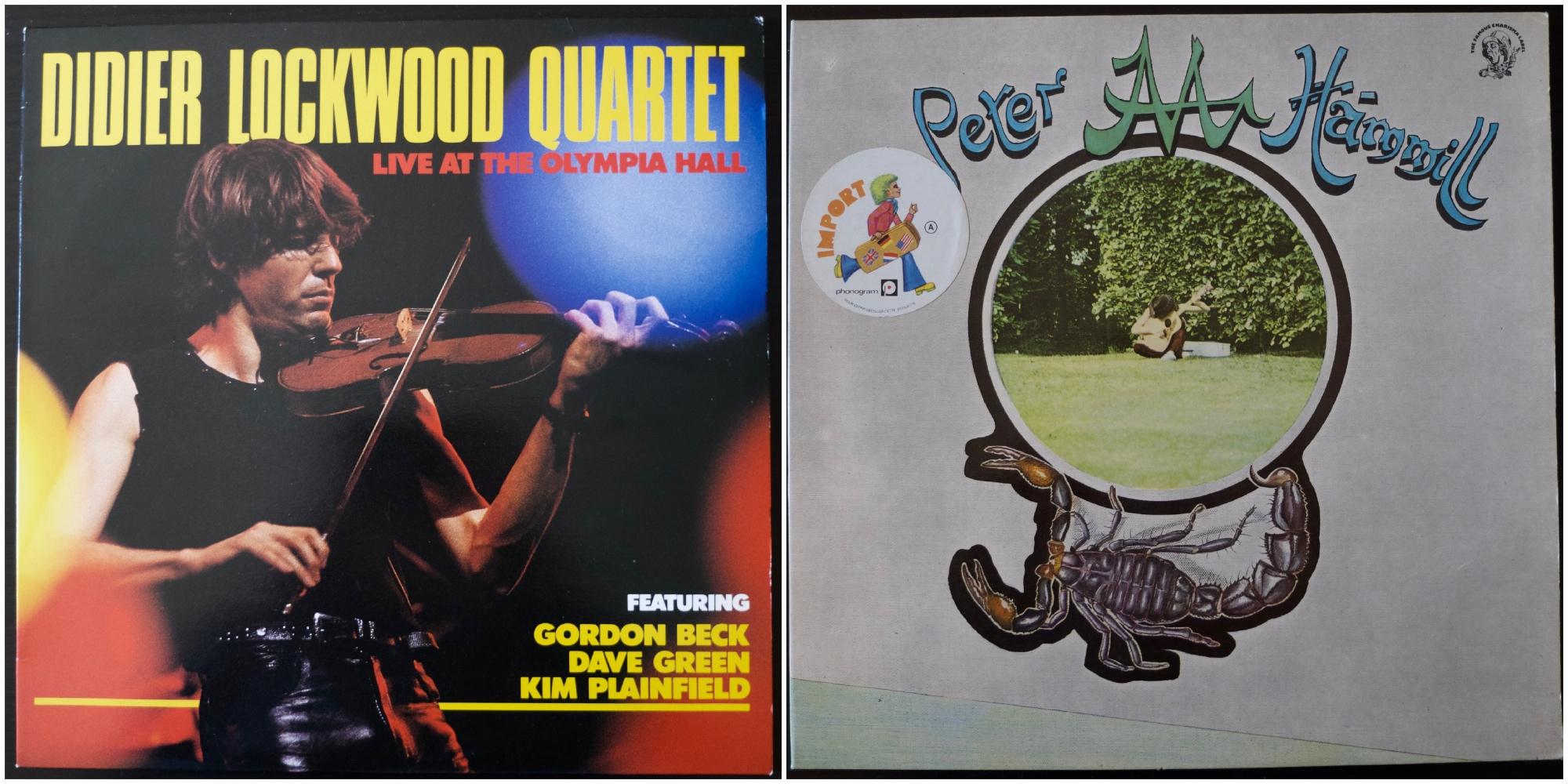 Albums de Didier Lockwood et Peter Hammill.