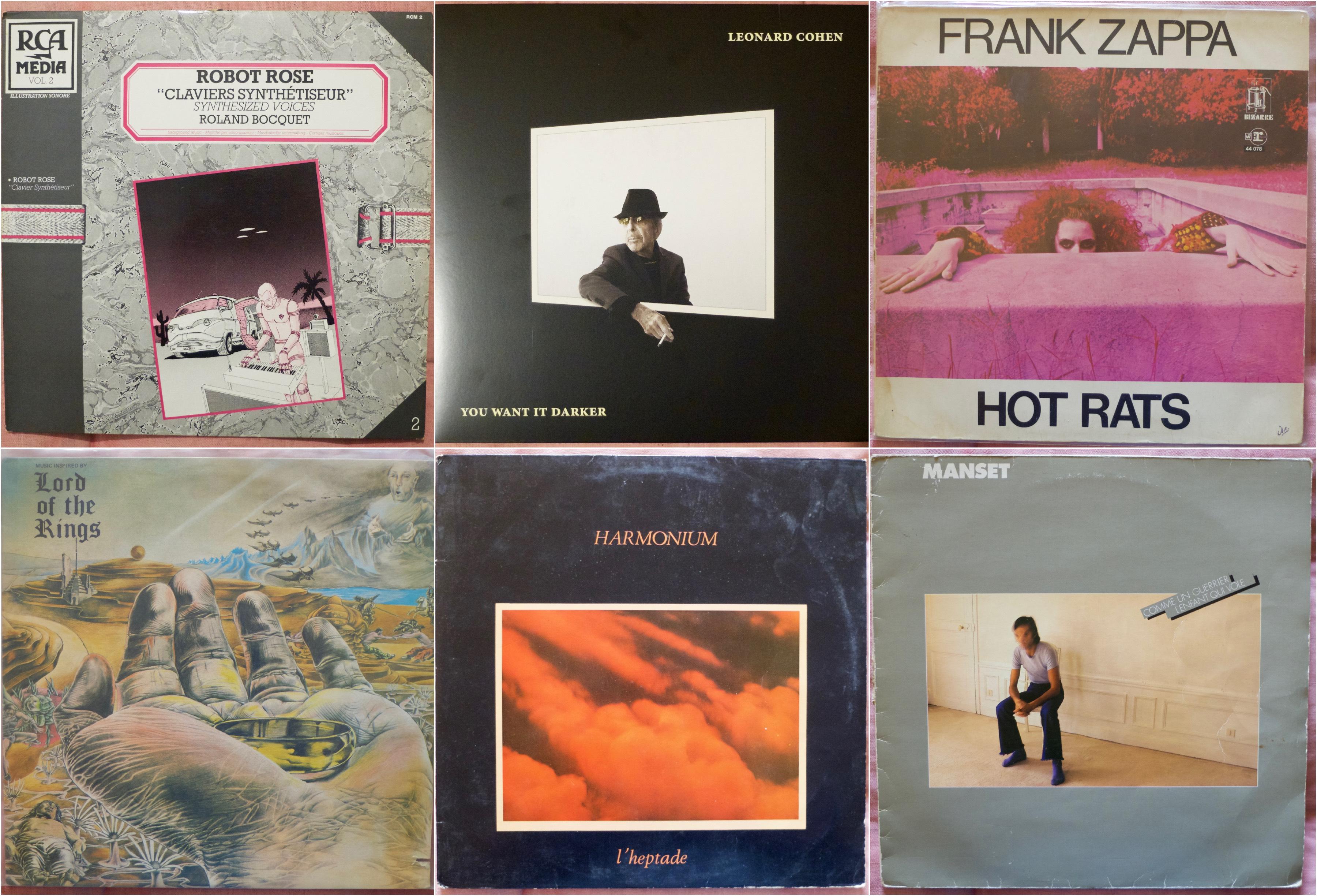 Du Zappa, le dernier Leonard Cohen, un Robot Rose et quelques autres…