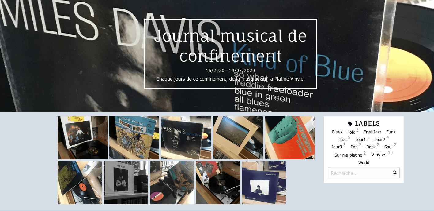 Journal musical de confinement en images
