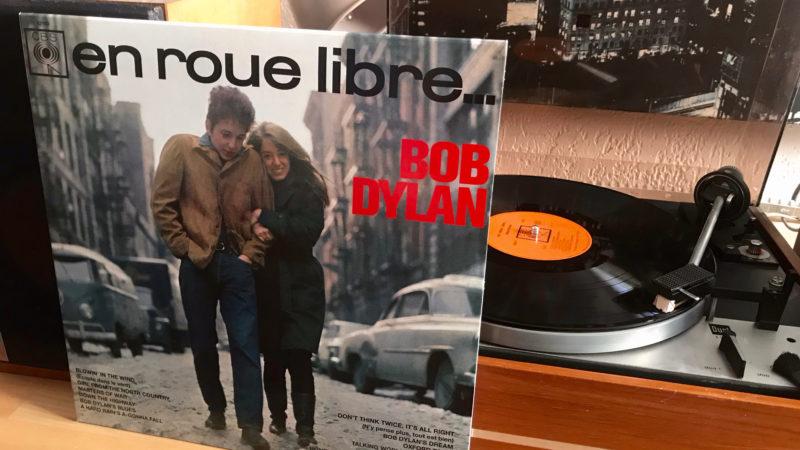 En version française ! En roue libre, Bob Dylan.