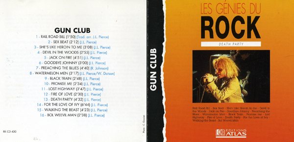 Death Party - Gun Club, collection Atlas, les Génies du Rock