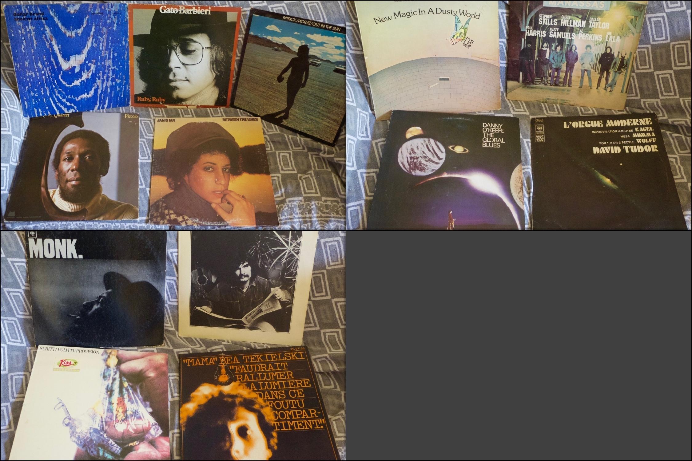 22 juillet, récolte vinylesque.