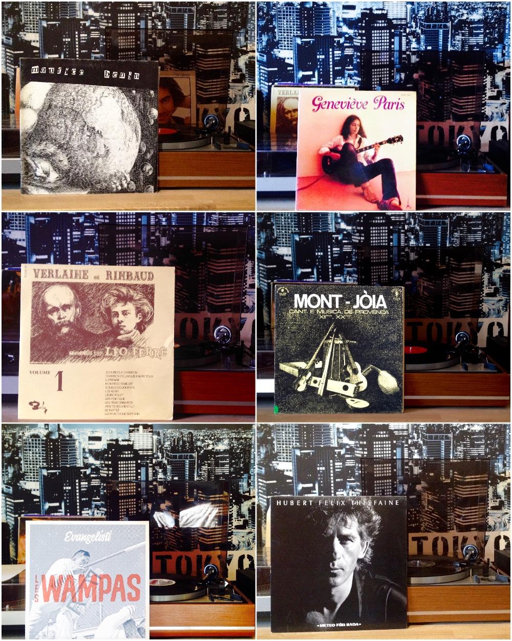 Albums posés sur la platine !